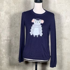 Kate Spade Navy Broome Street Owl Sweater